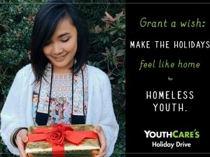 Holiday Gift Drive for Homeless Youth!